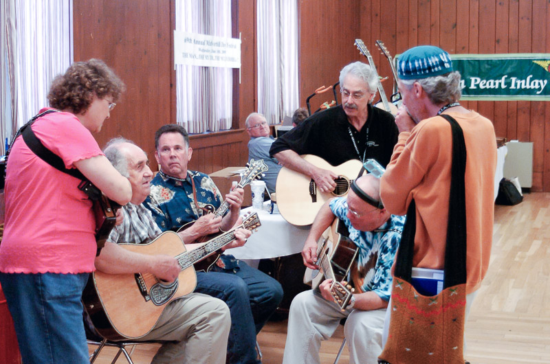 a bluegrass jam session