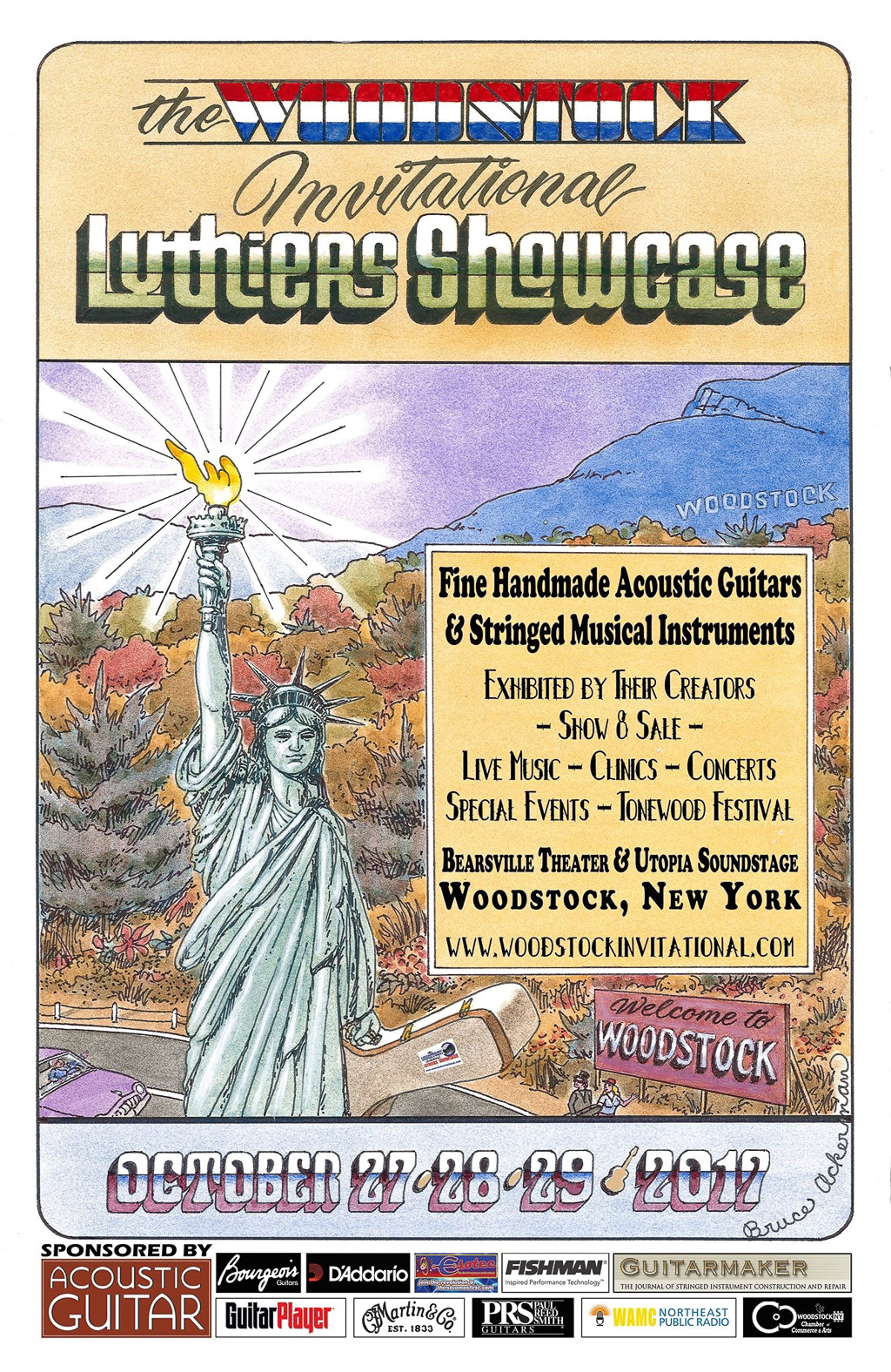 2017 Woodstock Invitational Luthiers Showcase Flyer